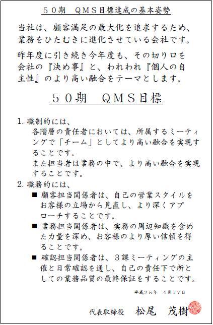 QMS目標